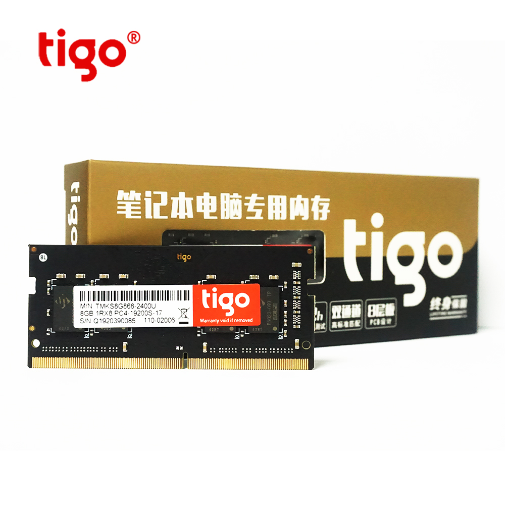 2 pcs Tigo RAM <font><b>DDR4</b></font> 4GB <font><b>8GB</b></font> Laptop Rams 2400MHz 2 pcs <font><b>memoria</b></font> ram ddr 4SoDIMM For <font><b>Notebook</b></font> image