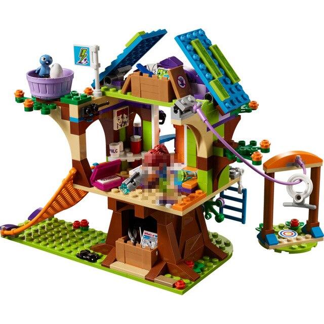 Друзья серии девушки ММАС Tree House 01059 393 шт. Строительный кирпич DIY блоки игрушки для детей Подарки, совместимые Legoed 41335