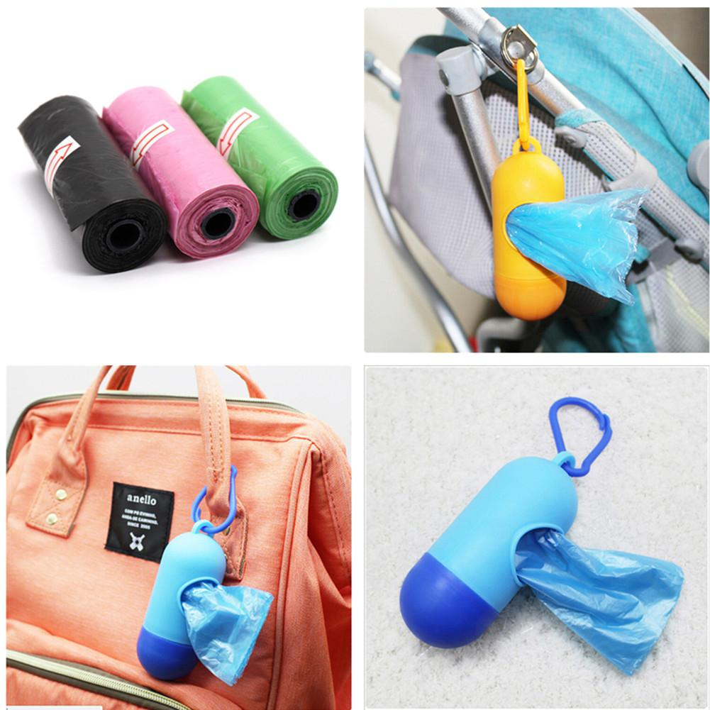 Kidlove 15pcs/Roll Plastic Garbage Bag Rubbish Bags Special For Baby Diapers Abandoned