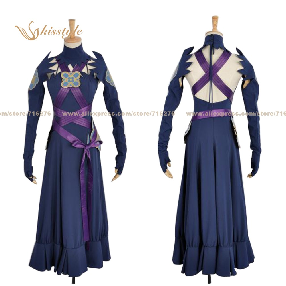 Kisstyle Fashion Fire Emblem: Rekka no Ken Fates Azura Aqua Uniform COS Clothing Cosplay Costume,Customized Accepted