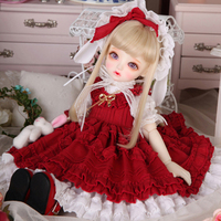 Full Set 1/6 BJD Doll BJD/SD Cute Joint Doll For Baby Girl Birthday Gift With Glass Eyes