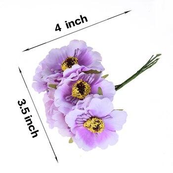Mini bouquet de pavot artificiel 3.5cm | bouquet en soie cerisier, couronne de tatouage fait à la main, bricolage, scrapbook, décoration de mariage, fausse fleur 2