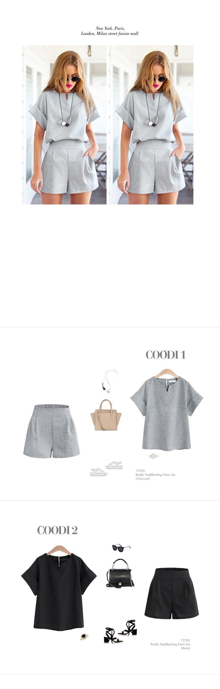 2017 Kobiety Lato W Stylu Casual Cotton Linen Top Koszula Kobiece Pure Color Kobiet Biuro Garnitur Ustawić kobiet Kostiumy Hot Krótki zestawy 5