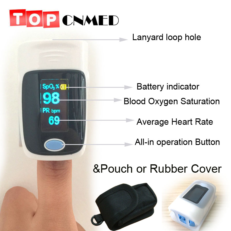 with Pouch with Setting Alarm+Beep Fingertip Pulse Oximeter SPO2 Pulse Rate Oxygen Monitor De Pulso Dedo Saturation Meter