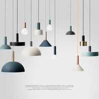 Nordic Creative Combination Cafe Aluninum Pendant Lamp Modern Brief DIY Home Decor Living Room E27 Bulb