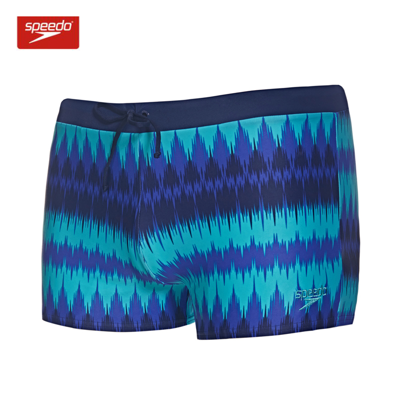 719ff87c66 Speedo Men's Endurance Square Leg Swimsuit Aquashorts Swimwear Fitness  Training Gardient Stripe Swim Trunks