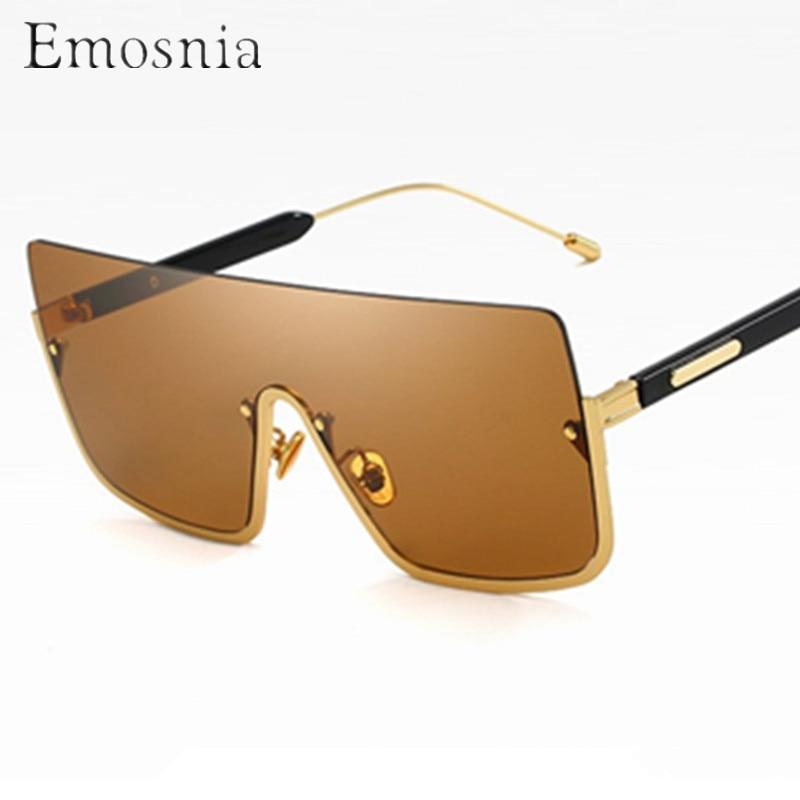 Emosnia Oversized Pilot Sunglasses Modis Semi Rimless