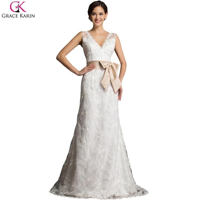 Grace karin vestido de noiva real photo weiß elfenbein brautkleider ...