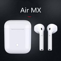 2019 Air MX TWS super bass Bluetooth Headset 1:1 Wireless charger Earphone tws headsets earphones headphones pk i22 pods