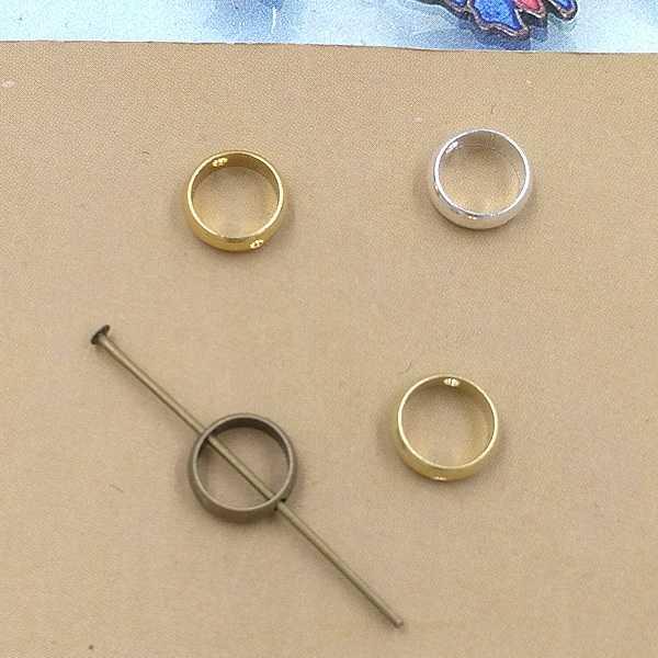 30 piezas 4 colores Fit de 6mm 8mm 10mm perlas de 3mm de ancho, 8mm 10mm 12mm conector de dijes mm para collar de pulsera de pendiente