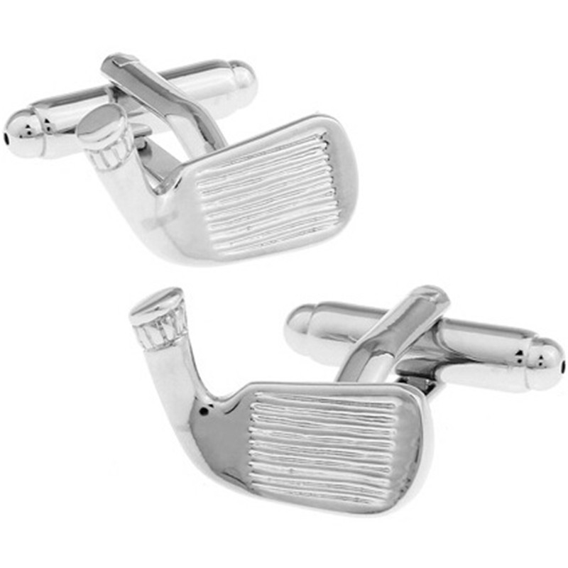 High Quality French Style Silver Golf Cufflinks For Mens Shirt Brand suit Cuff Buttons Top sale Cuff Links Jewelry