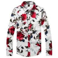 2016 mùa đông phong cách mới của Nam Giới giải trí kinh doanh thời trang 100% cotton dài tay áo sơ mi Men 's hoa color long sleeve shirt CY081