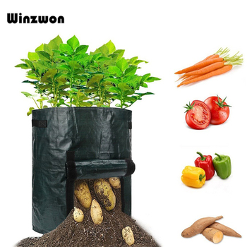 7Gallon Plant Grow Bag Potato Vegetable Fruit Growing Bag Greenhouse Planter Grow Pocket Farm Home Garden Supplies