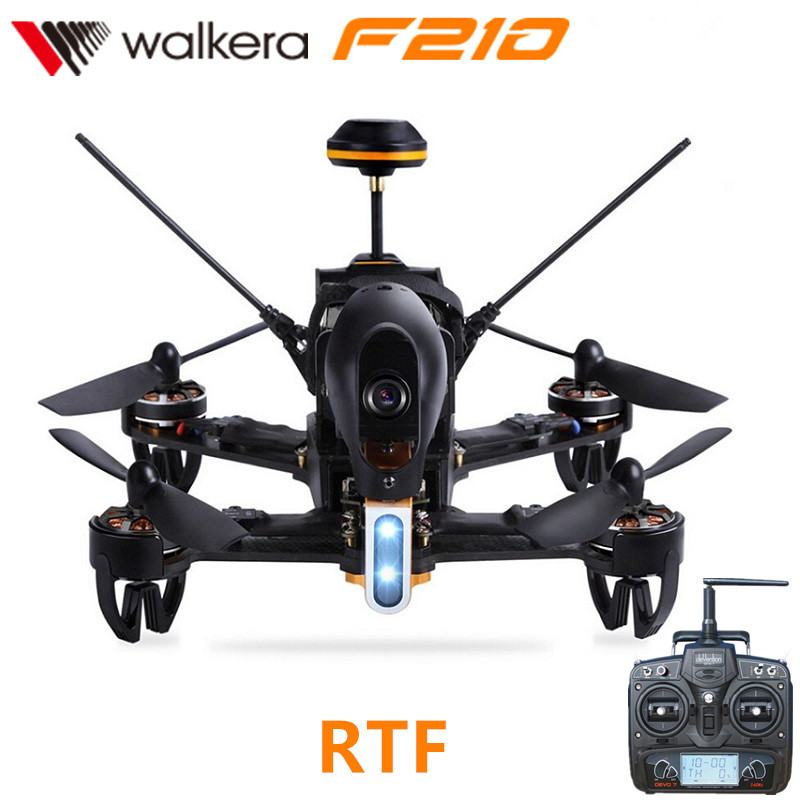 Original Walkera F210 With DEVO 7 Transmitter RC Drone Quadcopter with OSD / 700TVL Camera /Battery/Charger original walkera devo f12e fpv 12ch rc transimitter 5 8g 32ch telemetry with lcd screen for walkera tali h500 muticopter drone