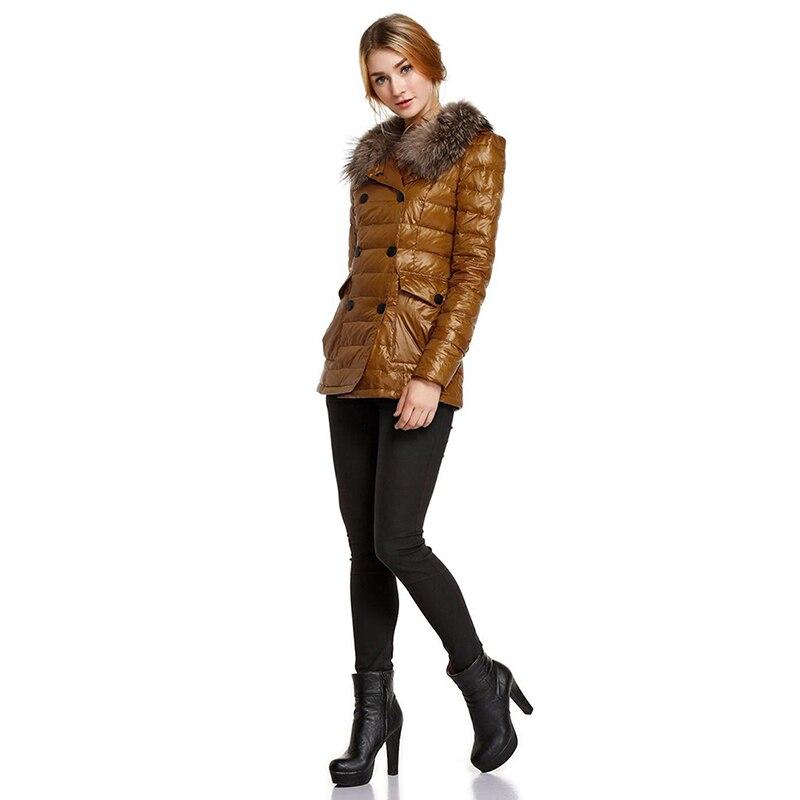 Fashion Slim Womens Winter Warm Cotton Paddedd Coats 2018 New Double Breasted Fur Collar Elegant Parka Jacket Mujer Gothic Tops