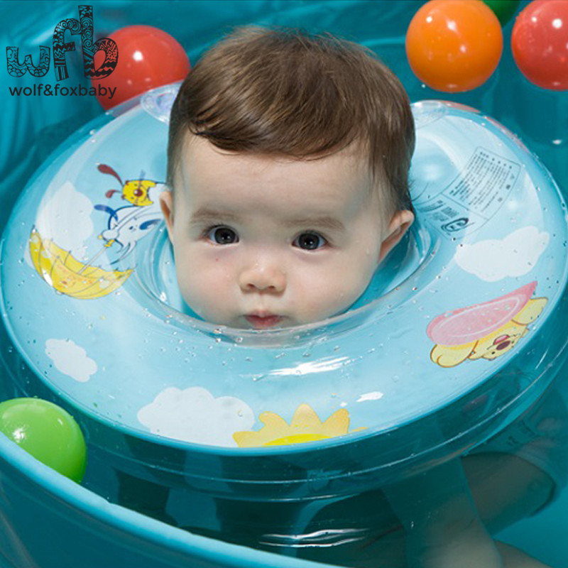 Retail New Baby Kids Infant double handrail safety air bag Adjustable Swimming Neck Float Ring Safety Aid Tube 2014
