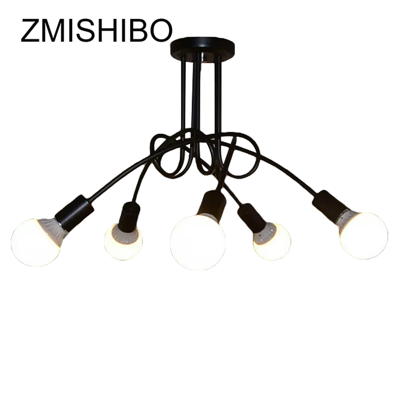 ZMISHIBO Iron Painted Pendant Lamp 110v-220v E27 Modern Nordic Pendant Light For Living Room Ceiling Decoration Lighting Fixture modern simple diy pendant lamp living room dinning room pendant light home decoration lighting ac 110v 220v e27