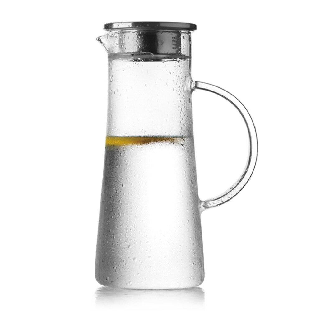 popular glass water pitcherbuy cheap glass water pitcher lots  -  pc homestia ounce l transparent heatresistant glass beverage pitcherwatter bottle coffee