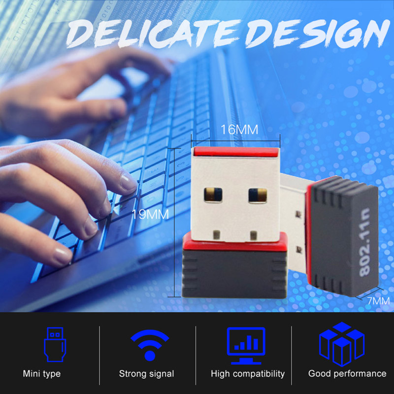1pc USB WIFI Adapter Mini Wireless Adapter Fast Speed LAN Card RTL8188 150M New Arrival