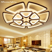 AcrylicModern светодиодные светильники потолочные для гостиной спальня столовая комнатная потолочная лампа освещение, осветительный прибор AC90-240V QIANXIA