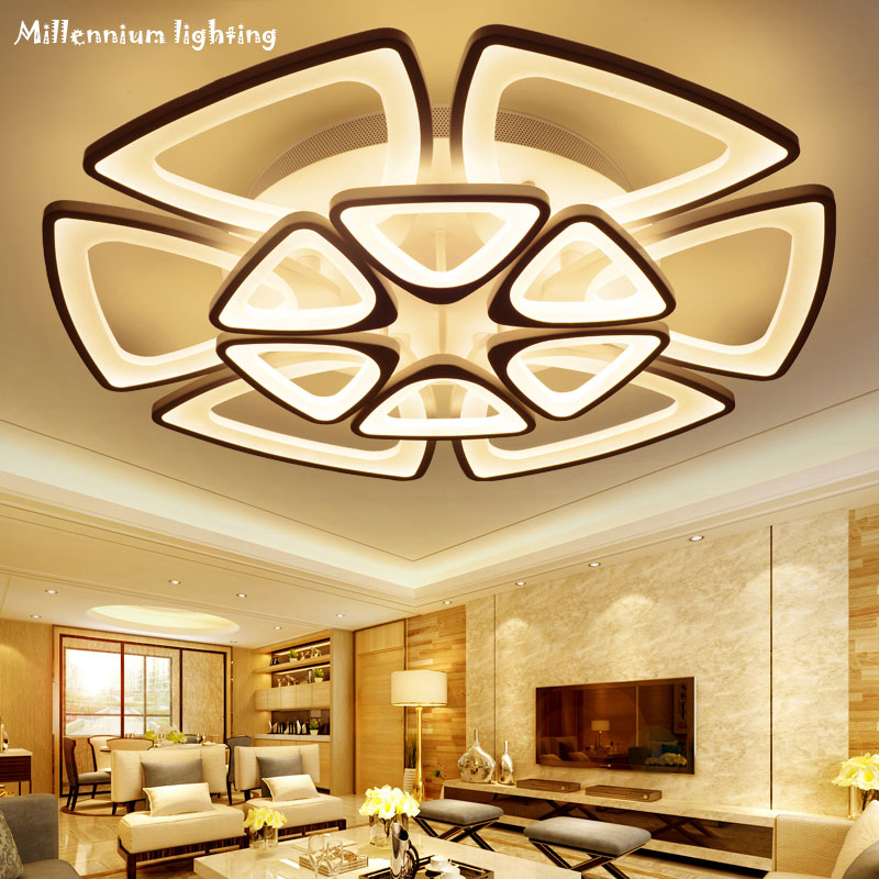 Triangle art LED ceiling lamp personality creative living room bedroom restaurant lamp simple modern lamps Qian Xia 8802-12