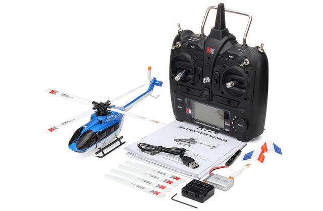 Original XK K124 EC145 motor Brushless 6CH 3D 6G Sistema RTF VS Wltoys RC Helicóptero Compatível com FUTABA S-FHSS V977