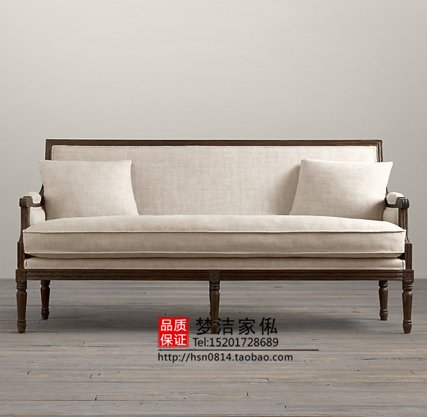 French Export Trade Retro Three Seat Sofa American Country To Do The Old Antique
