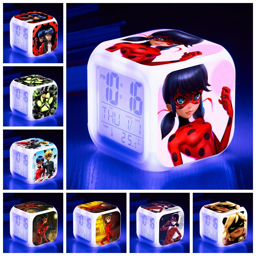 Miraculous Ladybug Comic Girl Action Figure Toys Cute Marinette Adrien lady bug Birthday Colors Flash LED Light 7 Colors Change new hot sale miraculous ladybug and cat noir juguetes toy doll lady bug adrien marinette plagg tikki plush doll