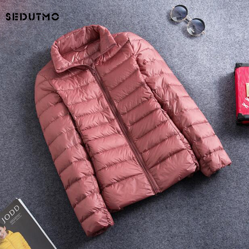SEDUTMO Winter Ultra Light Duck   Down   Jackets Women Plus Size 3XL Short   Coat   Warm Thin Spring Black Puffer Jacket ED419