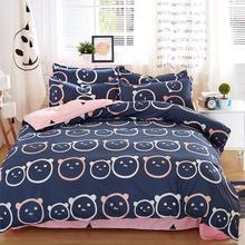Ropa de cama set 5 tamaño Espíritu Verde juego de cama edredón conjunto corea hoja de cama funda nórdica + funda de almohada de color rosa cubierta de cama ropa de cama