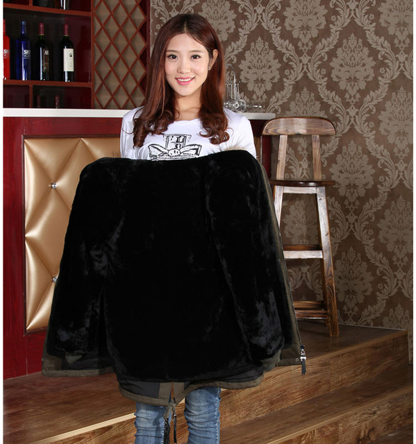 Direct Supply From Factory Winter Fashion Long Style Women Coats Parka Fox Collar Genuine Leather Inner Container Sheepskin