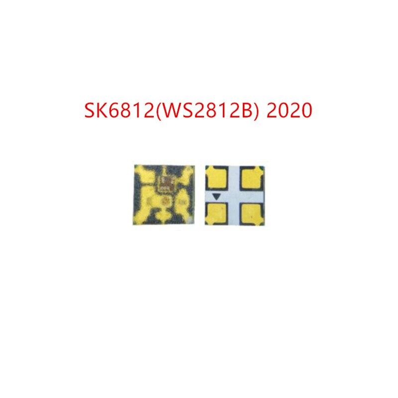 2019 NEW DC5V SK6812 2020 SK9822 2020 LED Chip Mini 2020 SMD Addressable Digital RGB Full Color LED Chip For LED Screen Play