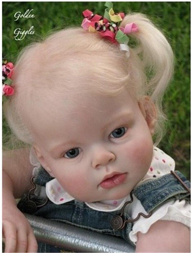 Silicone doll kits DIY reborn toddler girl dolls 28 inch lifelike reborn baby kit doll accessories