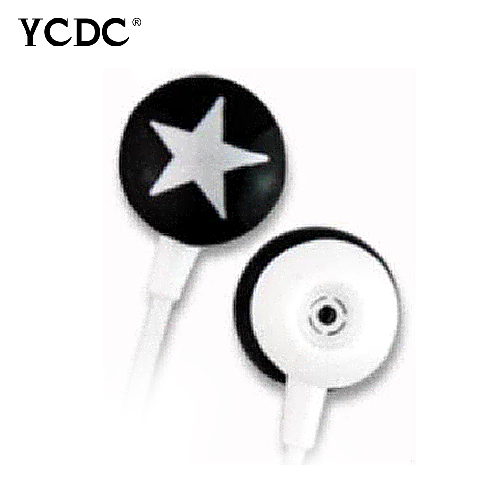 +Hot sale+ YCDC 3.5mm In-ear Star Stereo Earphone For Xiaomi HTC Samsung iPhone MP3 MP4 4 Colors Universal free shipping ycdc lovely star 3 5mm earphone earbud for xiaomi htc samsung iphone mp3 mp4 pc 4 colors