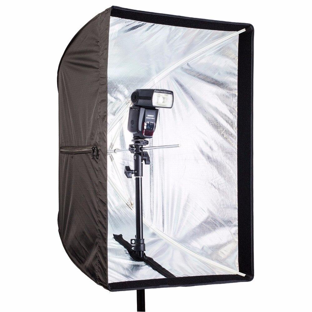 70*50 Centimetri Attrezzature Fotografiche Photo Studio Reflector Panno Flash Ombrello Softbox Per Photo Video