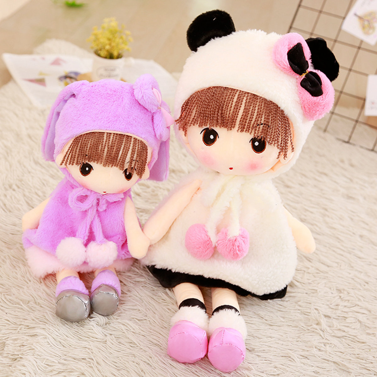 Hat Faye Soft Girl Plush Toy Boy Snow Meng Princess Cloth Doll Child Sleeping DollHat Faye Soft Girl Plush Toy Boy Snow Meng Princess Cloth Doll Child Sleeping Doll