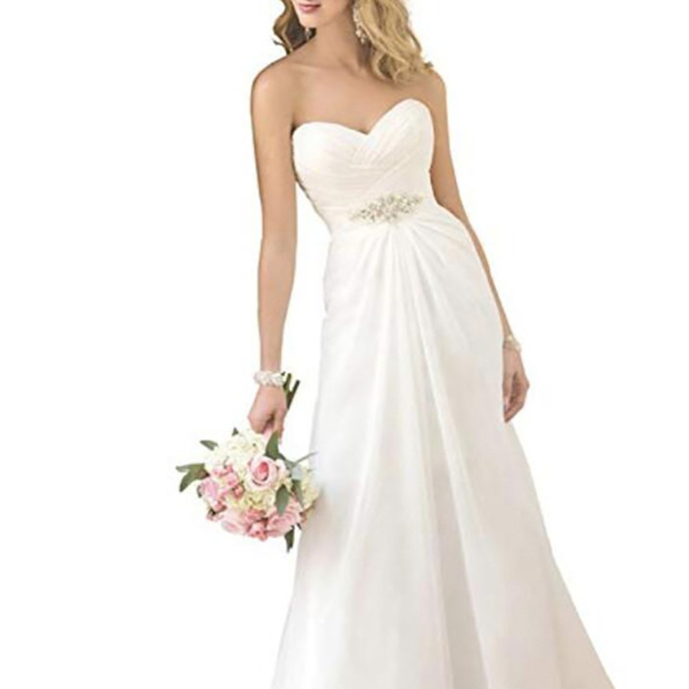 simple chiffon wedding dress 2019