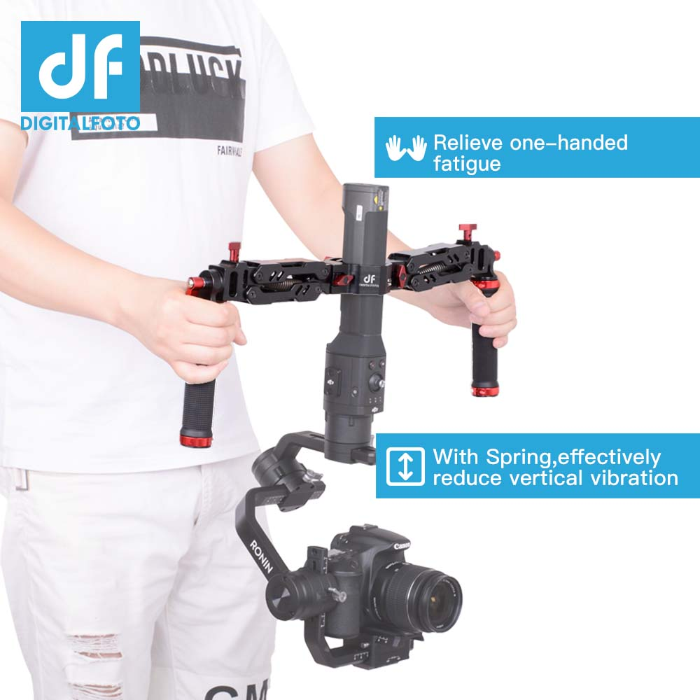 5kg Bear Ares Gimbal Grip Spring Dual Handle Mount for Zhiyun Crane 2 Crane Plus DJI RONIN S 3 Z Axis Gimbal AK2000 AK4000 smallrig universal camera grip wooden side handle for ronin s for zhiyun crane series handheld gimbal 2222