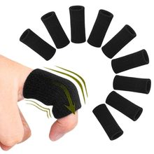 10pcs Arthritis Support Finger Guard Stretchy Sports Finger Sleeves Outdoor Basketball Volleyball Finger Protection #284469(China)