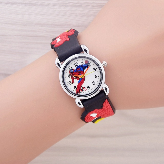 2017 Fashion Spiderman Child Watch Silicon Cartoon Kids Sport Watch Boys Silicone quartz watch 3D Watch relogio masculino
