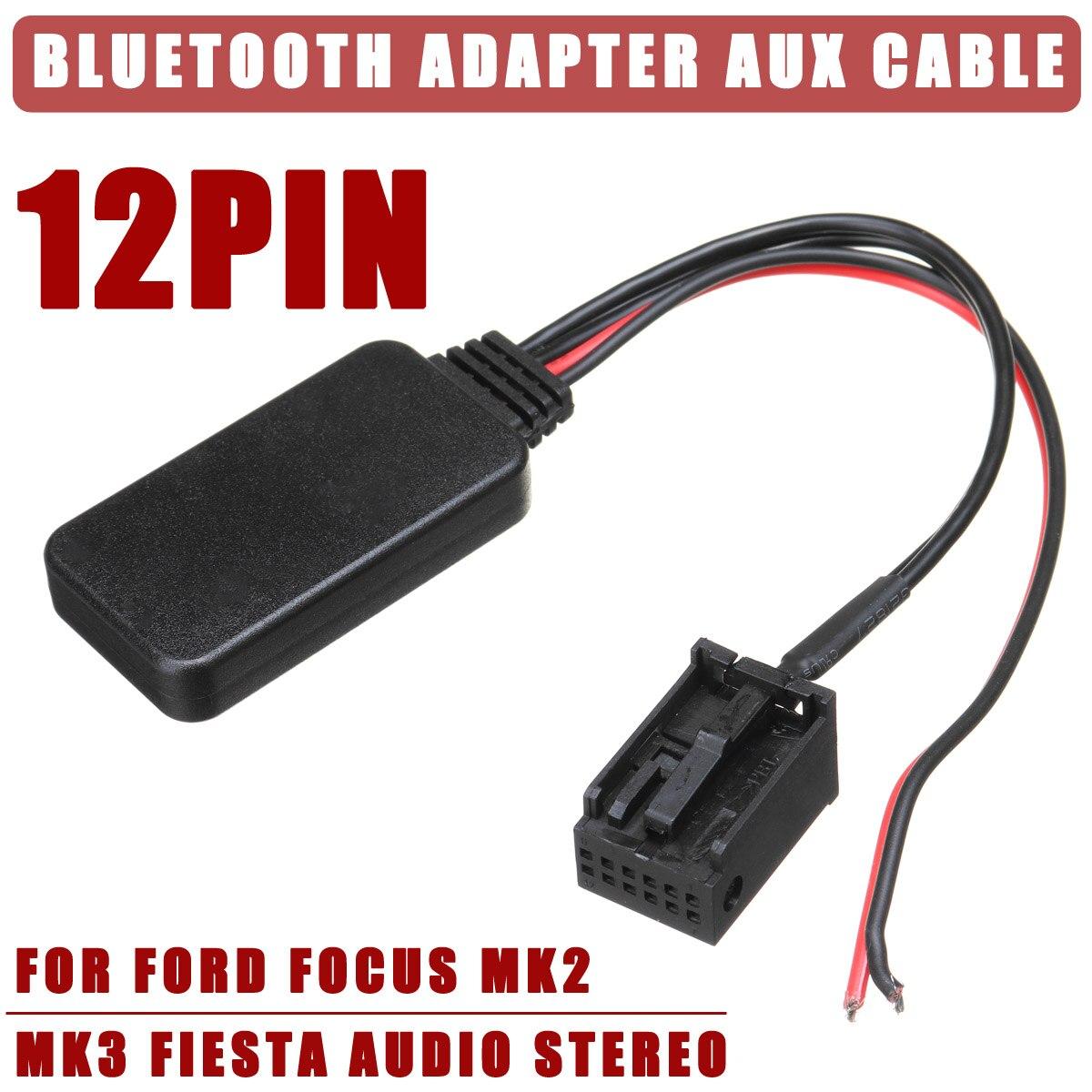 12 v 12Pin Hinten Port Auto Bluetooth Adapter Wireless Audio Stereo Aux Kabel Auto Zubehör Für Ford für Fokus Mk2 MK3 für Fiesta