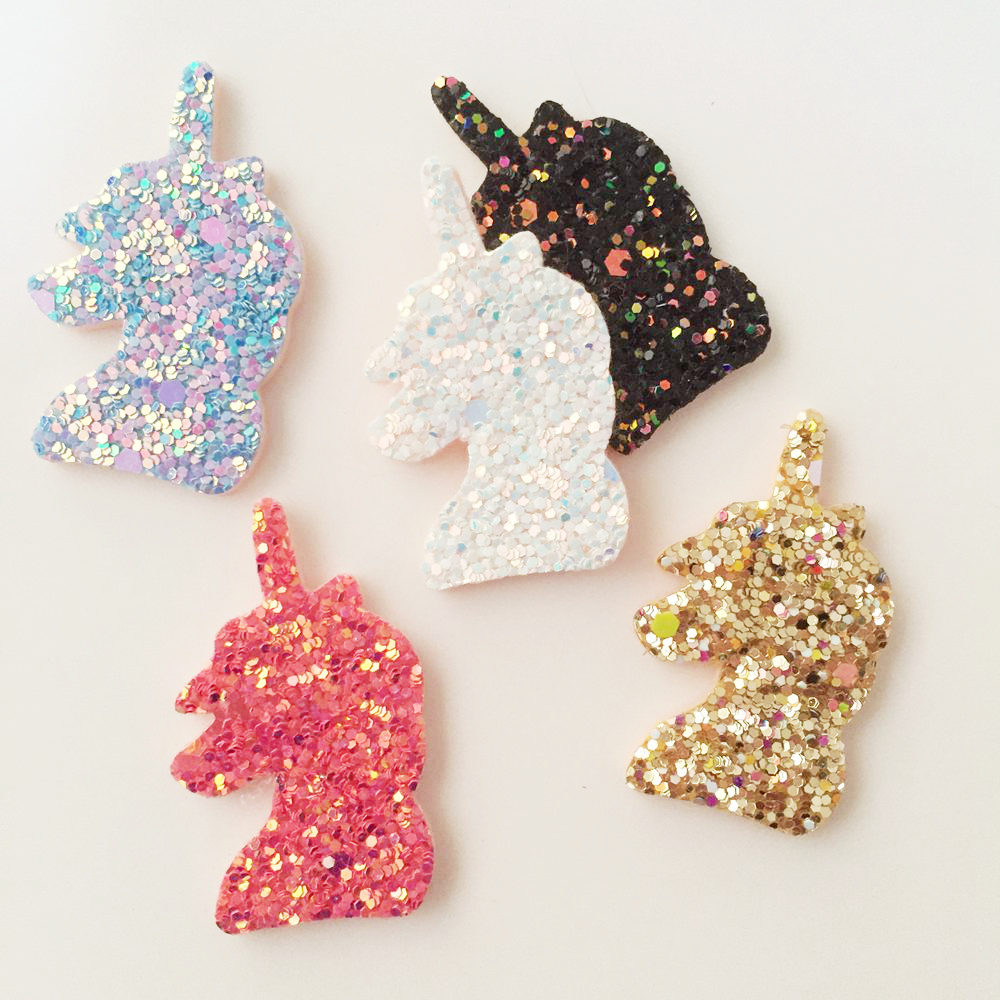 Detail Feedback Questions about 16pcs Felt Fabric Glitter Paillette Unicorn Patches  Appliques for Clothes Ornament Wedding DIY Hair Clip Accessories SA08 on ... 8d4fd8b7e4c7