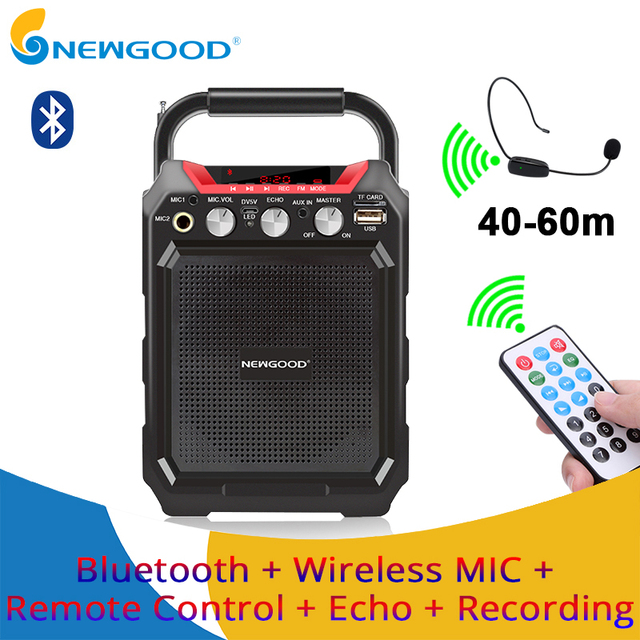 Portable bluetooth speaker wireless remote control 3D stereo sound system outdoor Music speakers support AUX FM TF Microphone