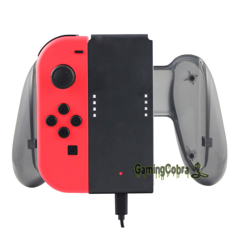 Charging Charger Grip Hand Holder for Nintendo Switch Joy Con Controller Gaming