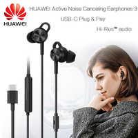 Écouteurs à suppression de bruit Active HUAWEI 3 USB type C d'origine ANC 3 CM-Q3 haute qualité musique Mate 10 20 RS P20 Pro Honor V 10