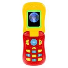 MrY Забавный флип-телефон игрушка ребенок учеба свет музыкальный звук телефон обучающая игрушка музыкальный мобильный телефон электрическая игрушка для ребенка