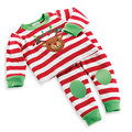Christmas Baby Clothes Cute Deer Cotton and Full Sleeve +Pants Striped O-neck Babysuit Kids Clothes Baby Christmas Outfits