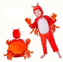 Crianças desempenho caranguejo cosplay vestuário trajes animais macacão