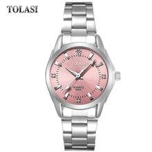 2017 new TOLASI brand watch quartz fashion bracelet watch waterproof Watch Luxury Diamond simple gift clock women girls watches