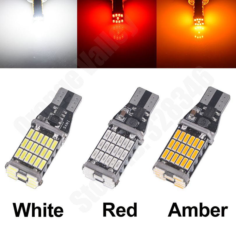 2PCS Super Bright T15 W16W 921 45 SMD LED 4014 Car Auto Canbus Reverse Light Reversing 2PCS Super Bright T15 W16W 921 45 SMD LED 4014 Car Auto Canbus Reverse Light Reversing Lighting Back up Lamp